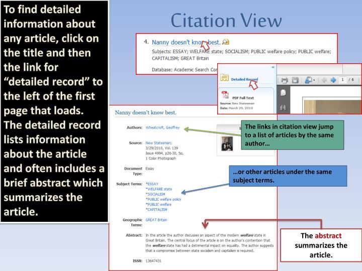 Citation View