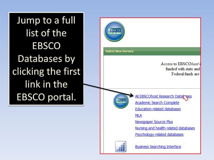 The EBSCO Portal