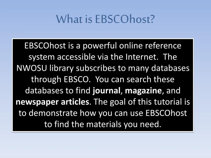What is ebscohost