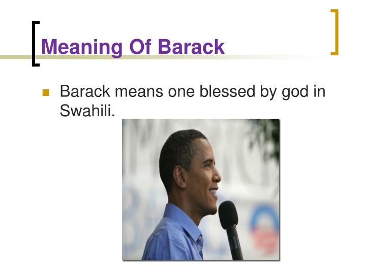 Meaning of barack