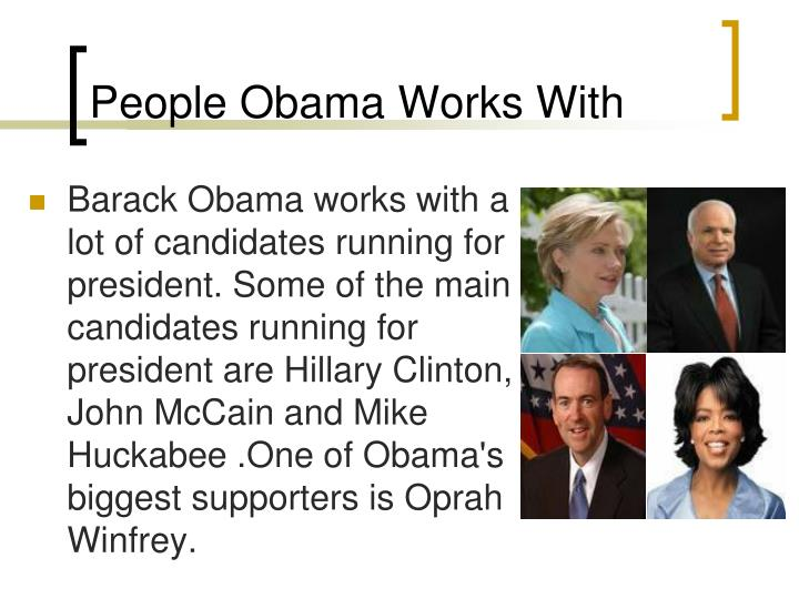 People Obama Works With