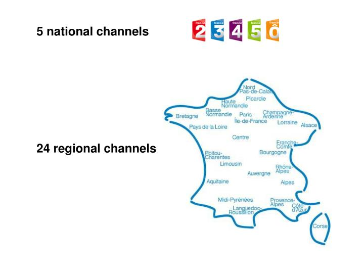 5 national channels