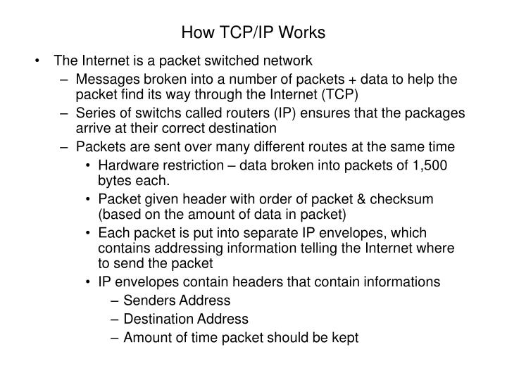 How TCP/IP Works