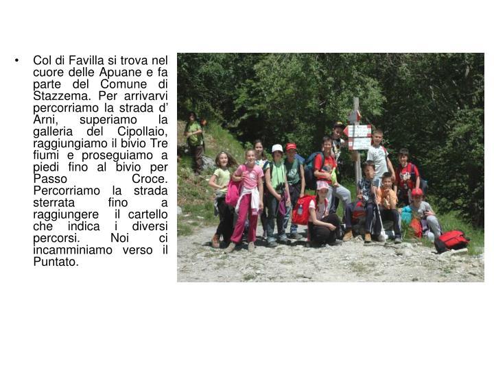 Col di Favilla si trova nel cuore delle Apuane e fa parte del Comune di Stazzema. Per arrivarvi perc...