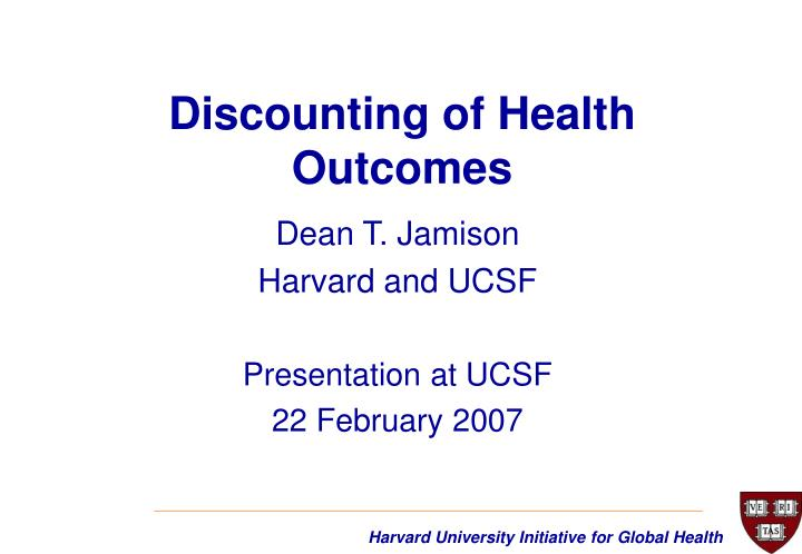 discounting of health outcomes n.