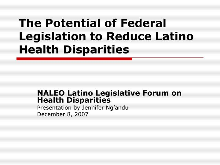 disparities in healthcare To ensure nondiscrimination and increase the number of people who have access to quality health care services, the office for civil rights (ocr) investigates hhs-funded programs and services this is to ensure they comply with applicable federal civil rights laws.