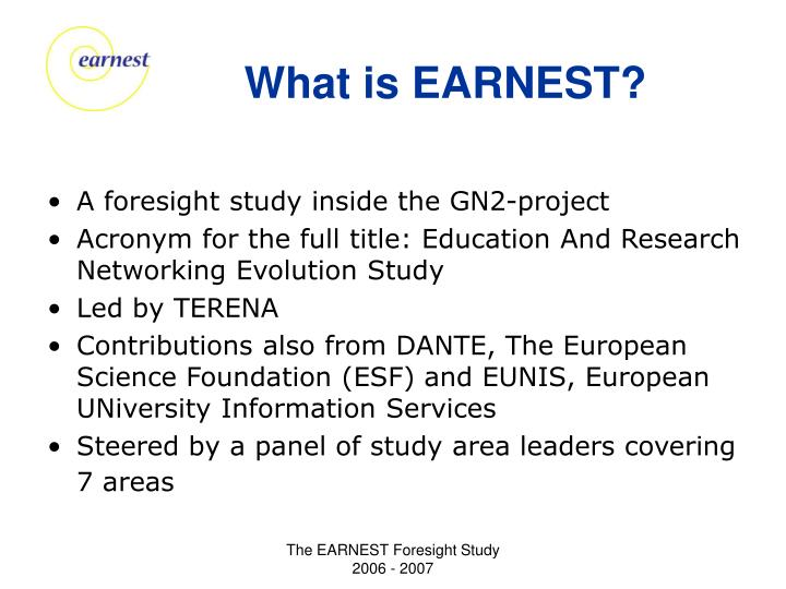 What is earnest