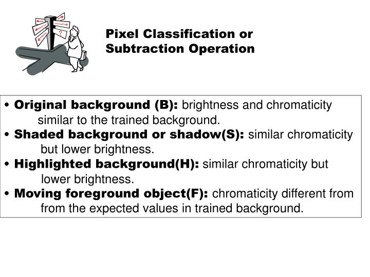 Pixel Classification or   Subtraction Operation