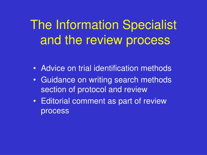 The Information Specialist