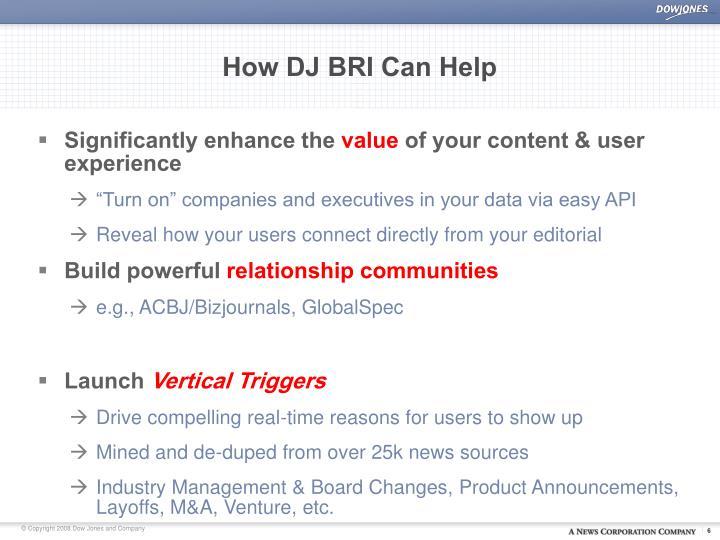 How DJ BRI Can Help