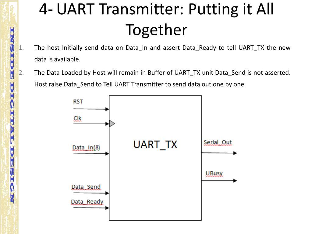 PPT - ASMD based Design: UART Transmitter PowerPoint