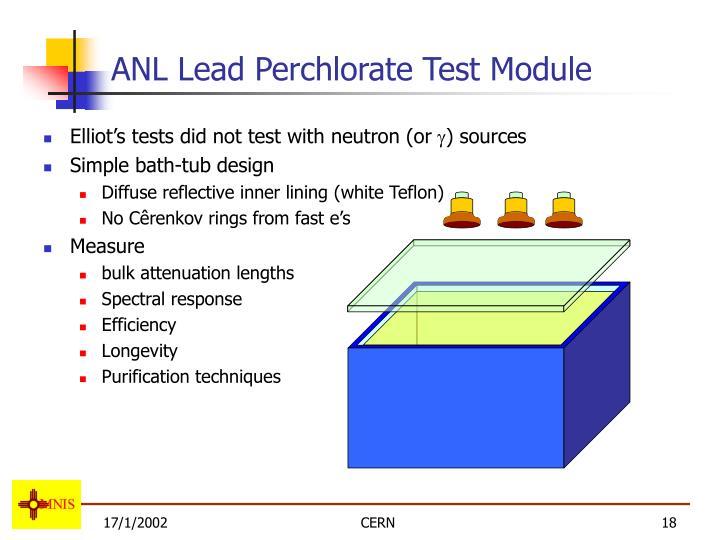 ANL Lead Perchlorate Test Module