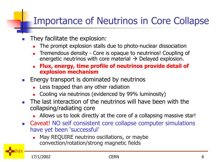 Importance of Neutrinos in Core Collapse