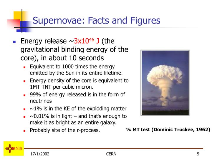 Supernovae: Facts and Figures