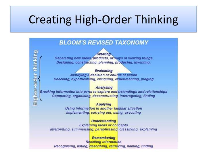 Creating High-Order Thinking