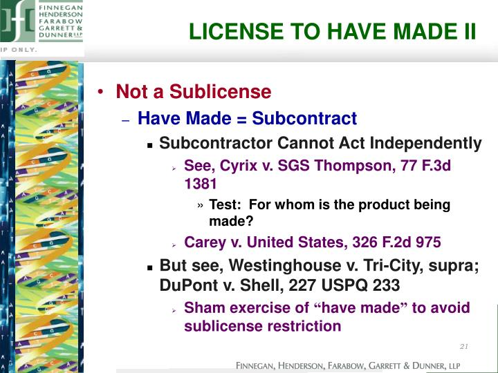 LICENSE TO HAVE MADE II