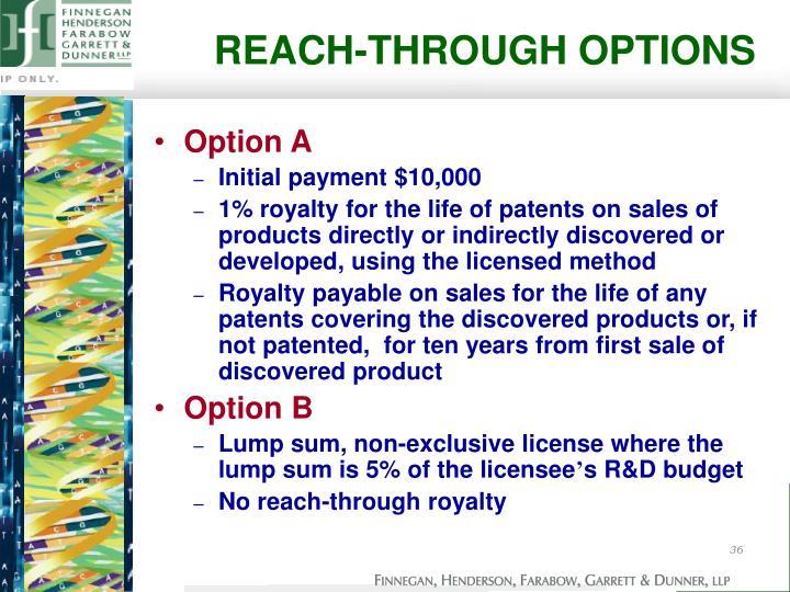 REACH-THROUGH OPTIONS
