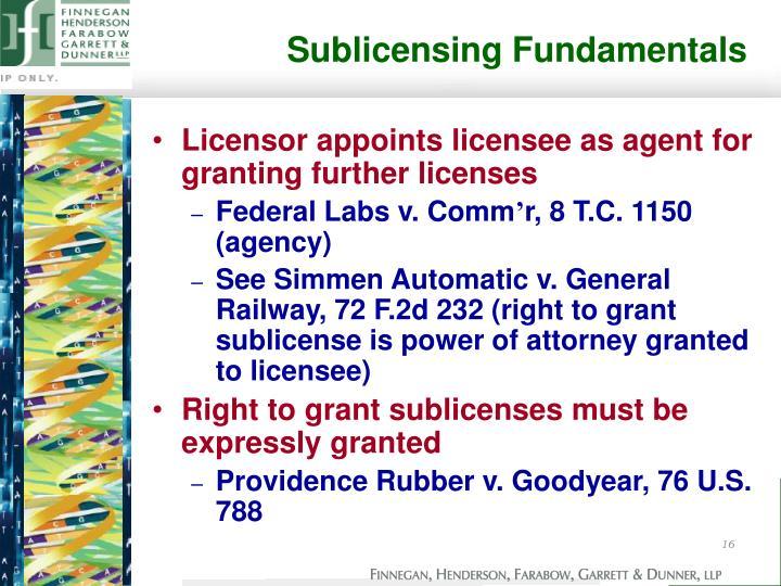 Sublicensing Fundamentals