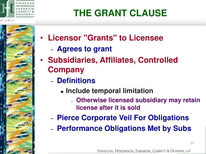 THE GRANT CLAUSE