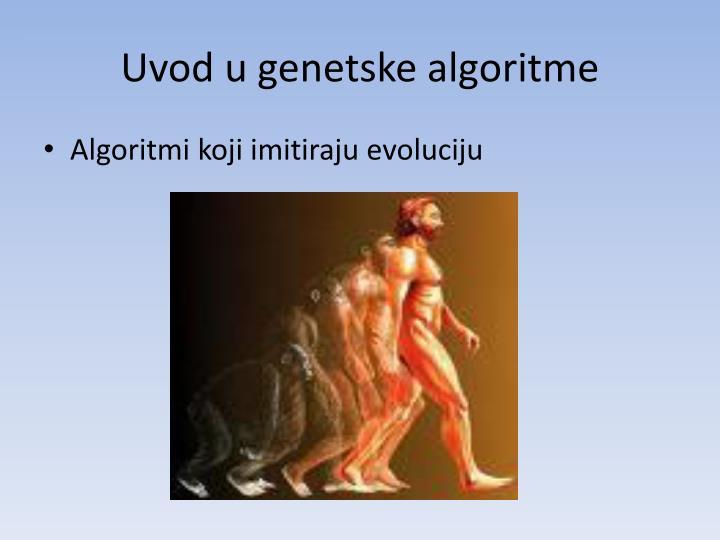 Uvod u genetske algoritme