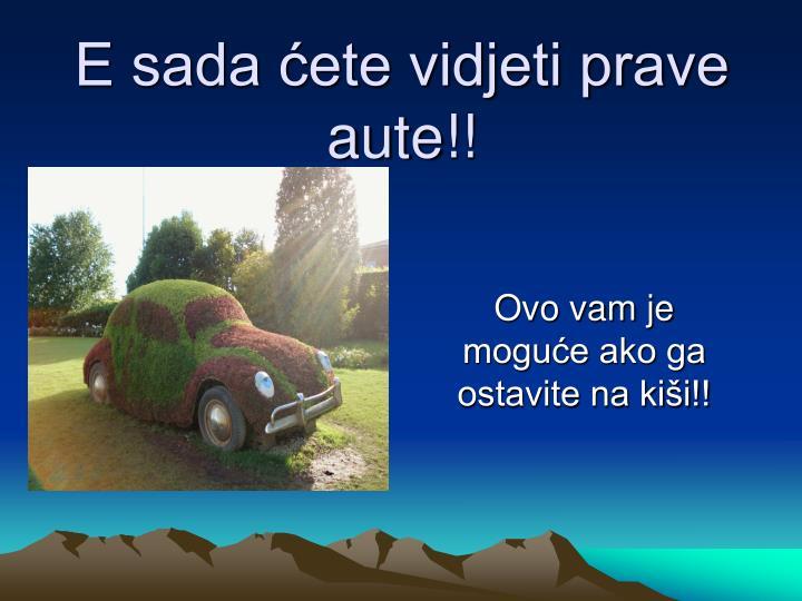 E sada ćete vidjeti prave aute!!