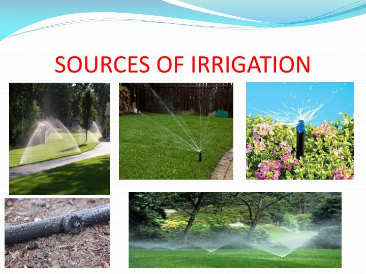sources of irrigation n.