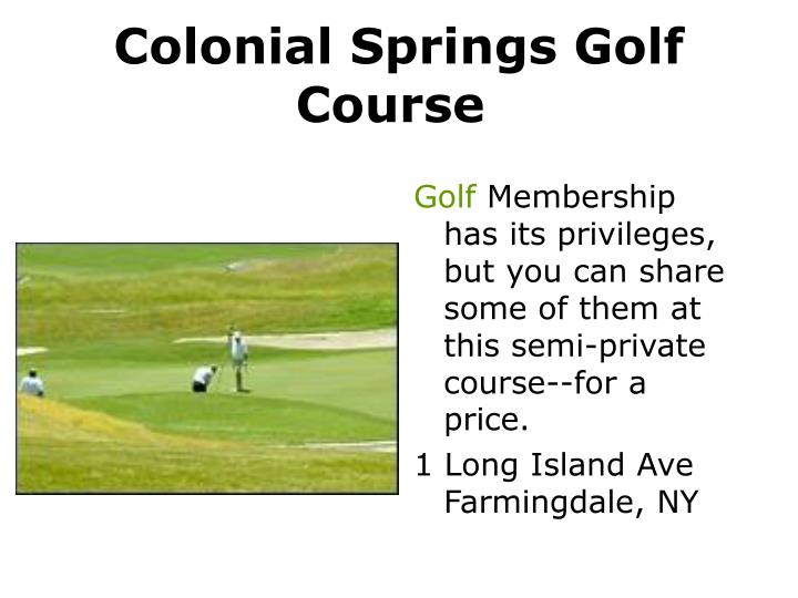 Colonial Springs Golf Course