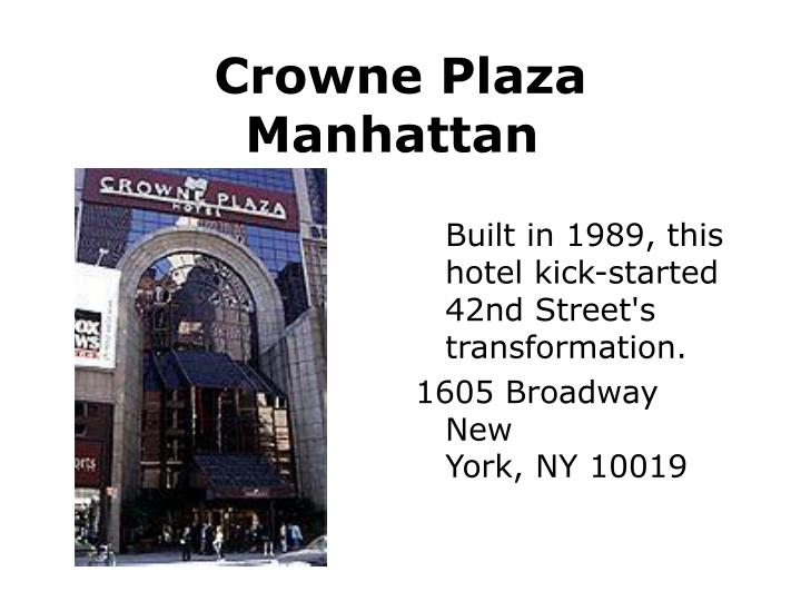 Crowne Plaza Manhattan