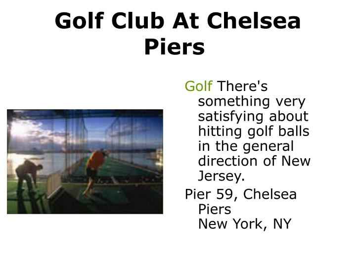 Golf Club At Chelsea Piers