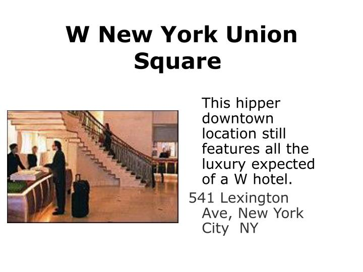 W New York Union Square