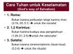 cara tuhan untuk keselamatan god s way of salvation