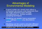 advantages of environmental modeling