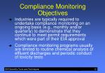 compliance monitoring objectives