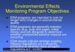 environmental effects monitoring program objectives