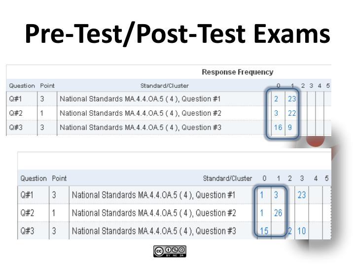Pre-Test/Post-Test Exams