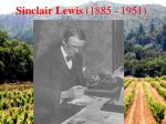 sinclair lewis 1885 1951
