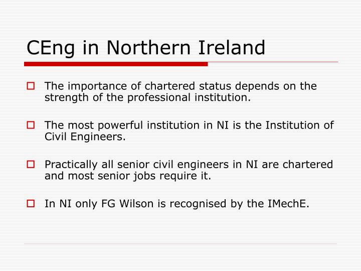 CEng in Northern Ireland