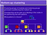 bottom up clustering