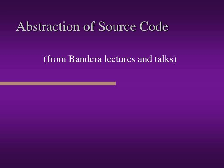 abstraction of source code n.
