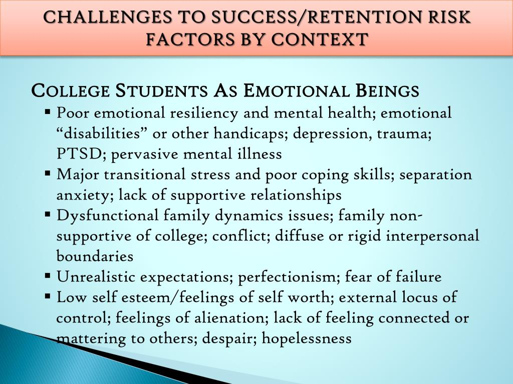PPT - Challenges Facing College Students in Success