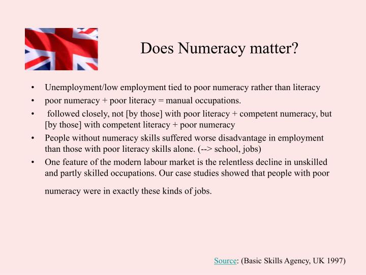 Does Numeracy matter?