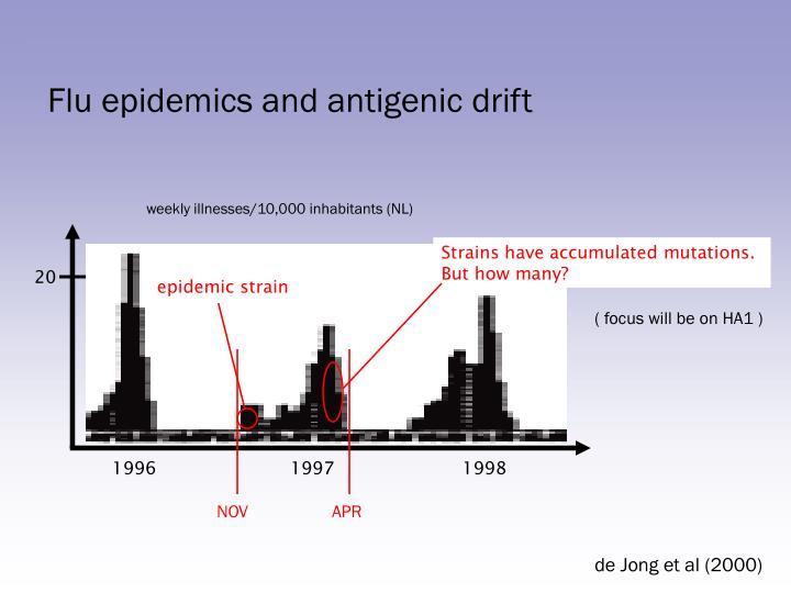 Flu epidemics and antigenic drift