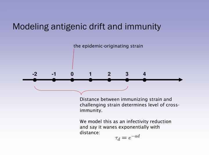 Modeling antigenic drift and immunity
