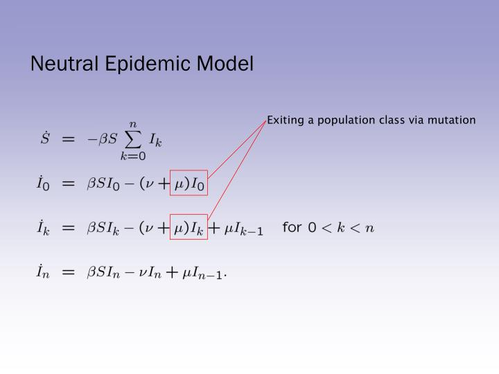Exiting a population class via mutation