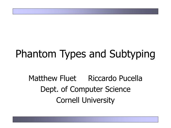 phantom types and subtyping n.