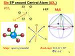 six ep around central atom ax 61