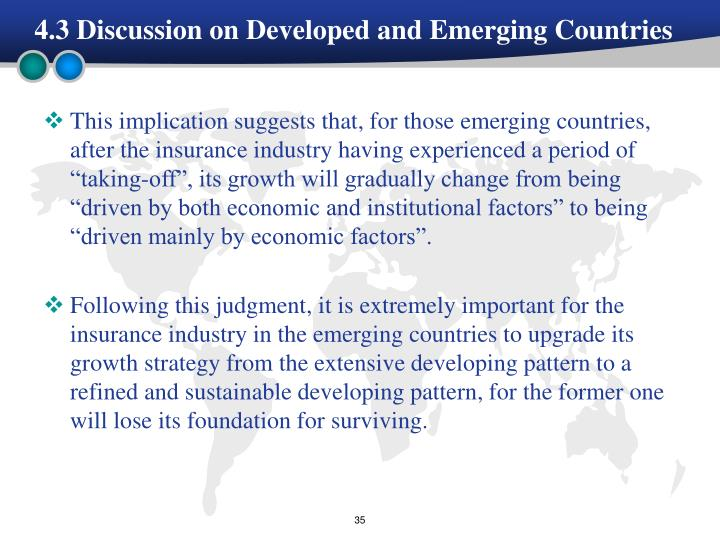 4.3 Discussion on Developed and Emerging Countries