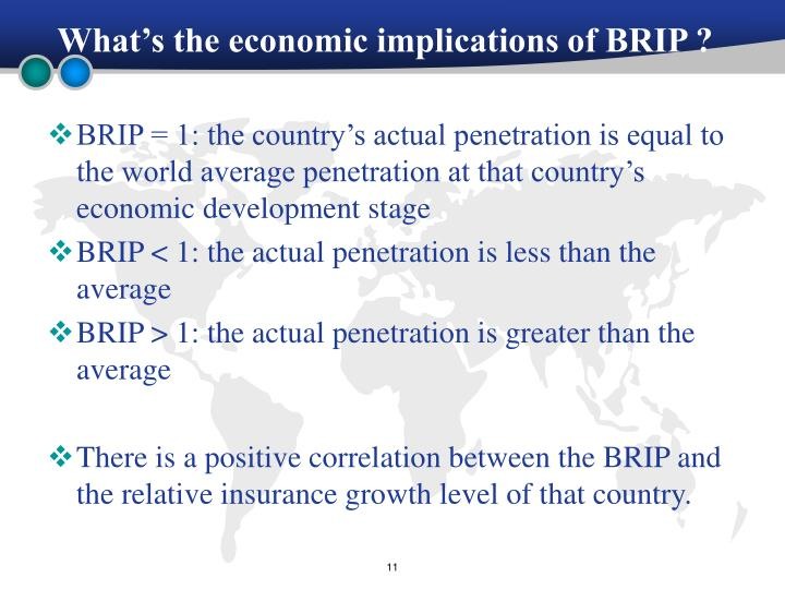 What's the economic implications of BRIP ?