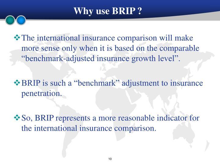 Why use BRIP ?
