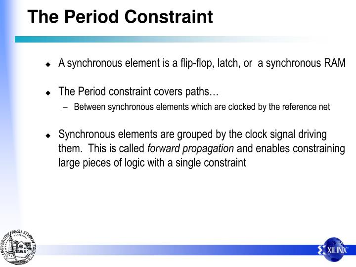 The Period Constraint